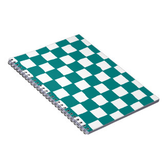 checkered pattern (teal) Notebook