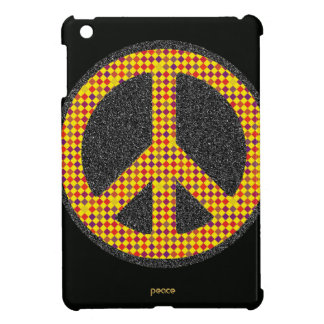checkered peace symbol iPad mini covers
