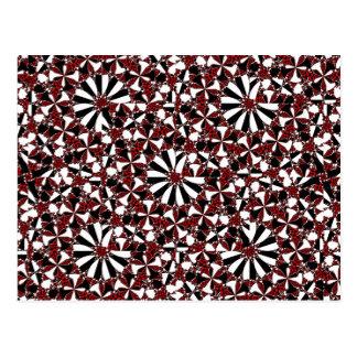 Checkered Petals Postcard