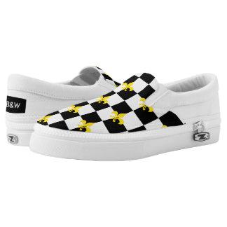 Checkered Print (Fleurdelis) Printed Shoes
