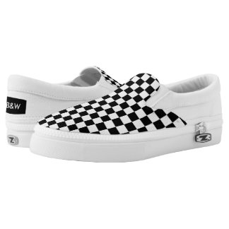 Checkered Print Slip-On Shoes