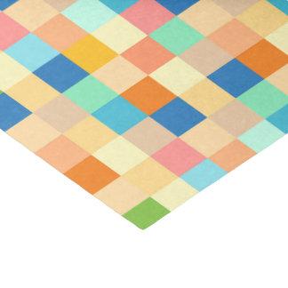 Checkered Print Square Pattern Multicolor Bright Tissue Paper