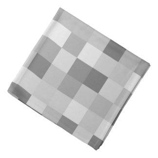 Checkered Print Square Pattern Print Bandana