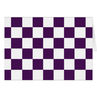 Checkered Purple and White Card
