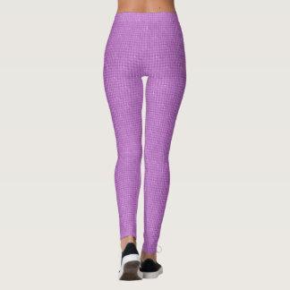 Checkered Purple Grunge Leggings