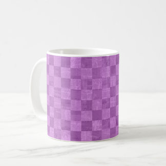 Checkered Purple Mug