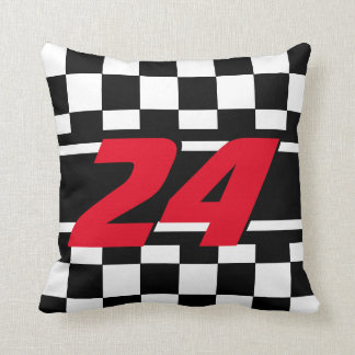 Checkered Race Car | DIY Color | Number Cushion