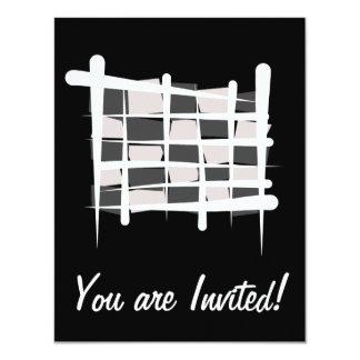 Checkered Racing Brush Flag Card