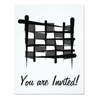Checkered Racing Brush Flag Card