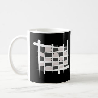 Checkered Racing Brush Flag Coffee Mug