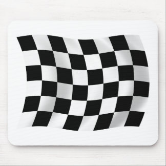 Checkered Racing Flag Mousepad
