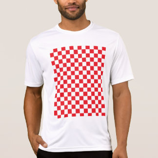Checkered Red and White T-Shirt