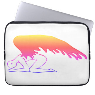 Checkered Sinful Angel Laptop Computer Sleeves