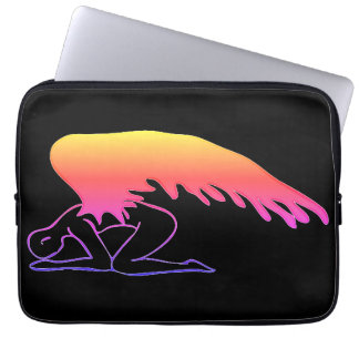 Checkered Sinful Angel Laptop Sleeve