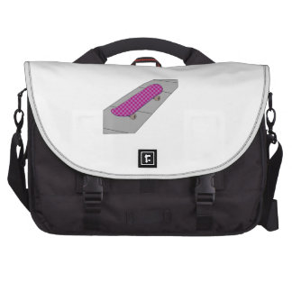 Checkered Skateboard Computer Bag