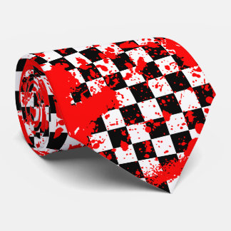 checkered splatz. tie