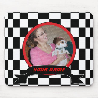 Checkered Square Mouse Pad