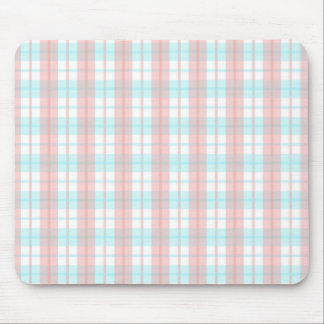 checkered turquoise and rouge mouse pad