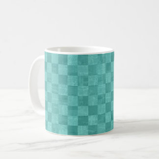 Checkered Turquoise Mug