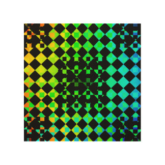 Checkered Twist Wood Canvases