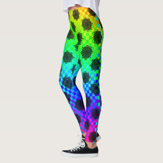 Checkered Wheels by Kenneth Yoncich Leggings