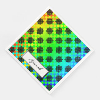 Checkered Wheels by Kenneth Yoncich Paper Serviettes
