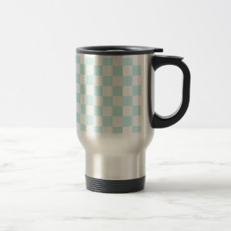 Checkered - White and Pale Blue Mugs