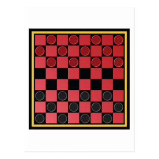 Checkers Game Postcard