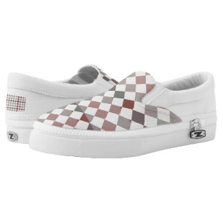 Checkers Zipz Slip On Shoes, US Men 4 / US Women 6 Printed Shoes
