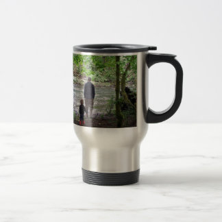 Checking out the Sol Duc River Travel Mug
