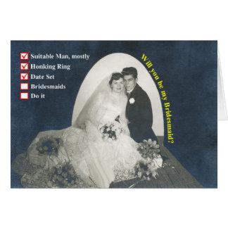 Checklist Bridesmaids! Card