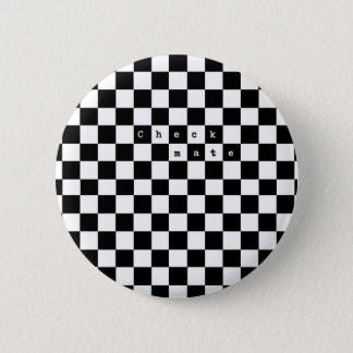 Checkmate 6 Cm Round Badge