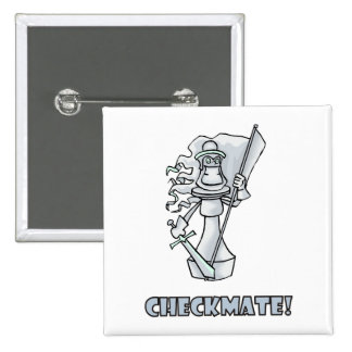 Checkmate! Chess pieces (brainy board game) 15 Cm Square Badge