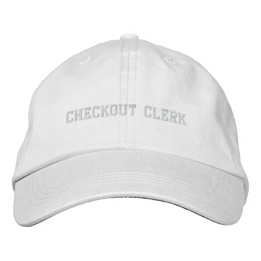Checkout clerk embroidered baseball caps