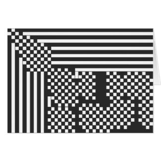 Checks and Stripes Greeting Card