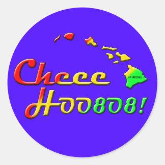 CHEE HOO 808 ROUND STICKER