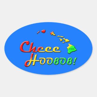 CHEE HOO OVAL STICKER