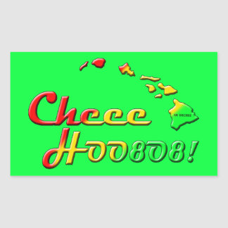 CHEE HOO RECTANGULAR STICKER