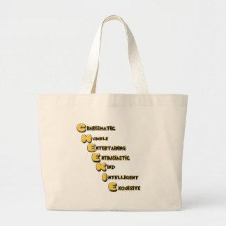 cheekie m large tote bag