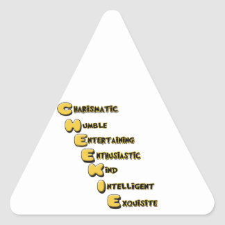 cheekie m triangle sticker