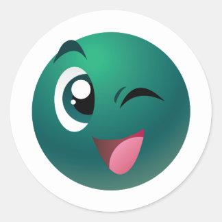 Cheeky Ball Round Sticker