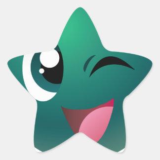 Cheeky Ball Star Sticker