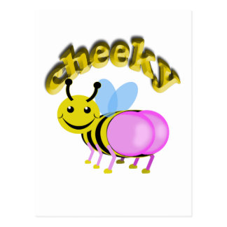 cheeky bee postcard