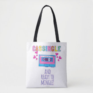 Cheeky Cassingle Nostalgia Slogan Tote Bag