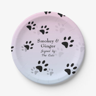 Cheeky Cats Footprints Template Paper Plate