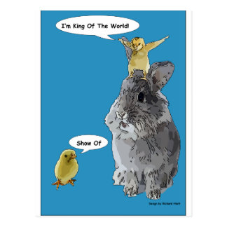 Cheeky Chick Easter Bunny Cartoon Postcard