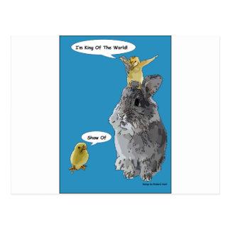 Cheeky Chick Easter Bunny Cartoon Postcard