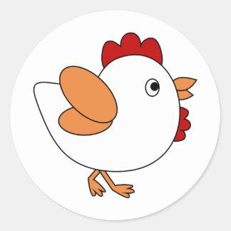 Cheeky Chicken Round Sticker