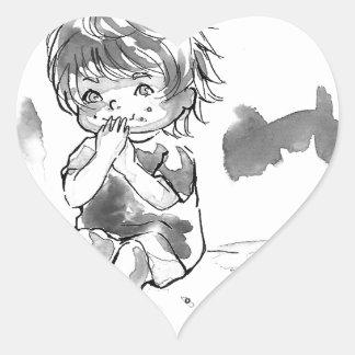 Cheeky Cookie Eater Heart Sticker