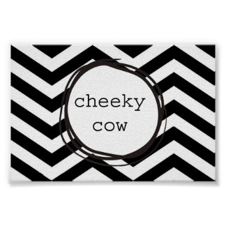 Cheeky Cow Funny Poster